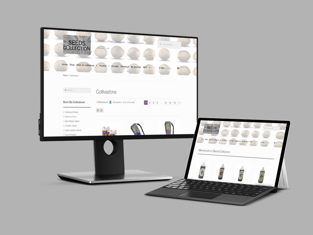 seedscollection e-commerce maglie lecce